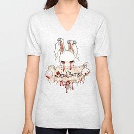 Dead Bunny Holding The Sign Unisex V-Neck