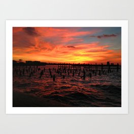 New Orleans Sunset Art Print