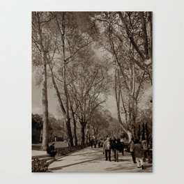 """Gardens to the NE of Sultan Ahmed Mosque (""""Blue Mosque"""", Istanbul, TURKEY) Canvas Print"""