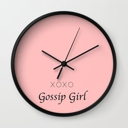 XOXO Gossip Girl - tvshow Wall Clock