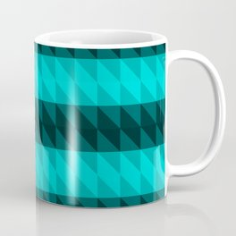 Cyan and Black Coffee Mug