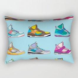 Colorful Sneaker set illustration blue illustration original pop art graphic print Rectangular Pillow