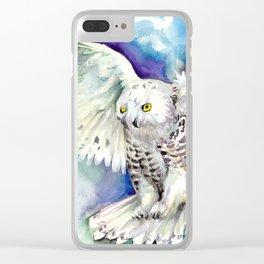White Polar Owl - Wizard Dynamic White Owl Clear iPhone Case