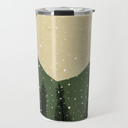 Badger in the Snow Travel Mug
