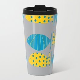 little fishy, blue and yellow Travel Mug