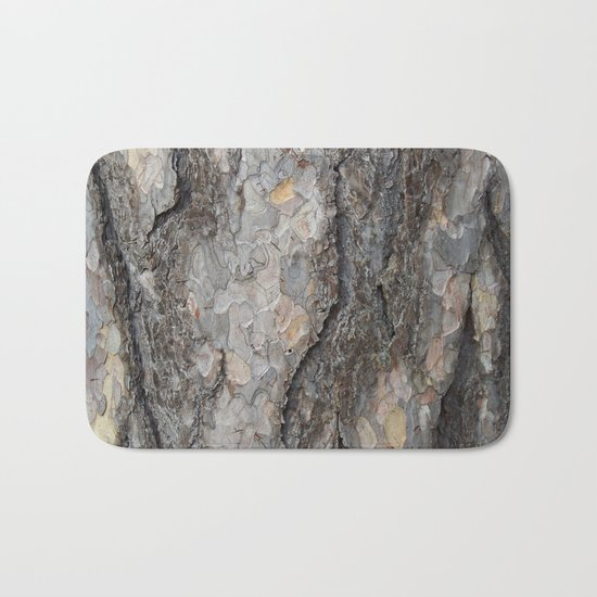 pine tree bark - scale pattern Bath Mat