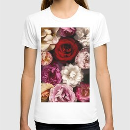 Pink, White, and Red Roses T-shirt