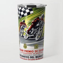 Vintage V Gran Premio De Espana Travel Mug