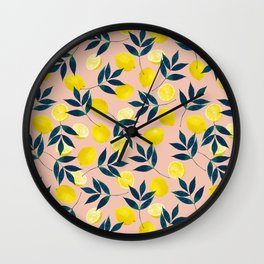 Lemony Goodness Wall Clock