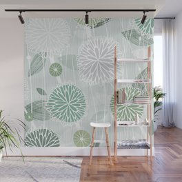 Abstract Floral by Friztin Wall Mural