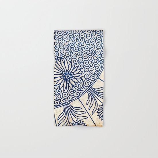 Blue Oriental Vintage Tile 01 Hand & Bath Towel