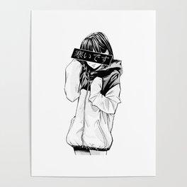 Anime Schoolgirl Poster