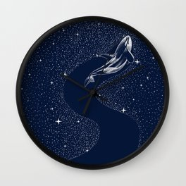 starry orca Wall Clock