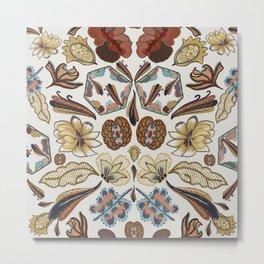 Hippy folk pattern Metal Print