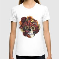 ohm T-shirts featuring Full circle...Floral ohm skull by Kristy Patterson Design