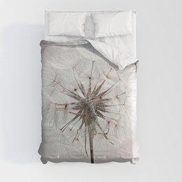 Delicate Dandelion Flower in soft light Comforters