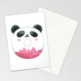 Panda Donut Art Work Stationery Cards
