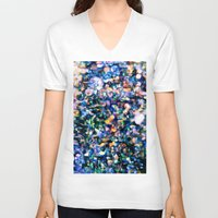 sparkle V-neck T-shirts featuring Sparkle by Stephen Linhart