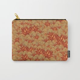 Just Orange Flowers Carry-All Pouch