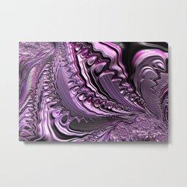Purple fractal flowing fantasy Metal Print