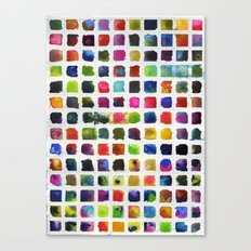 Watercolor Squares Canvas Print