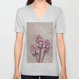 Lovely pink Hyacinths Unisex V-Neck