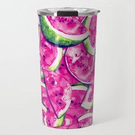 Watermelons Forever   Bright Pink Bubblegum Travel Mug