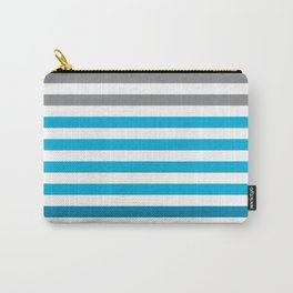 Stripes Gradient - Blue Carry-All Pouch