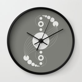 dna aliens, sacred geometry Wall Clock