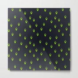 Green Lights at Night Metal Print