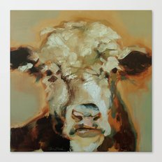 Hereford Cow Canvas Print