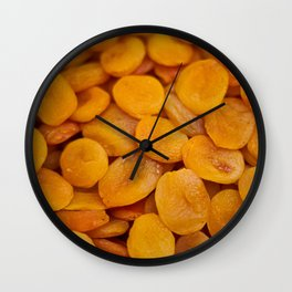 Dried cut apricot fruits Wall Clock