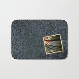 Grunge sticker of New Zealand flag Bath Mat
