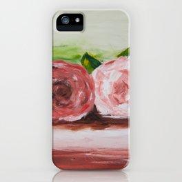 Peony flowers iPhone Case