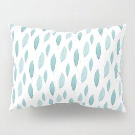 Turquoise Leaves Pillow Sham