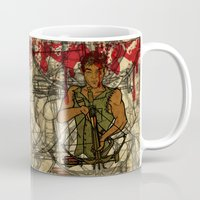 daryl Mugs featuring Daryl by Aqua Ink Graphics