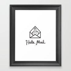hate mail Framed Art Print