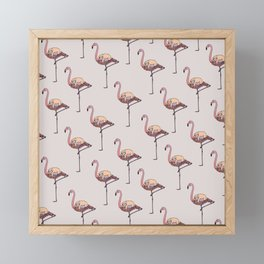 Flamingo and Sloth Framed Mini Art Print