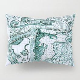 Encre vert Pillow Sham