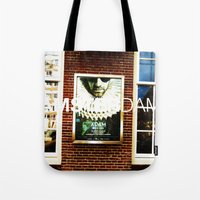 posters Tote Bags featuring Amsterdam Posters by Cristhian Arias-Romero