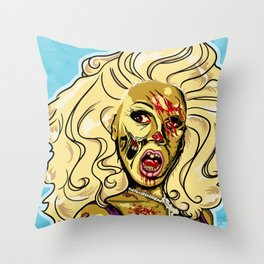 Zombie RuPaul Throw Pillow