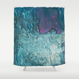 Crumbled Thought Shower Curtain