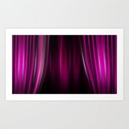 Theater Purple Curtains Art Print