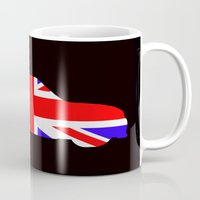 mini cooper Mugs featuring Mini Cooper by Derek Donovan
