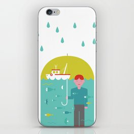 Umbrella print iPhone Skin