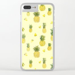 Pineapple Watercolors Clear iPhone Case