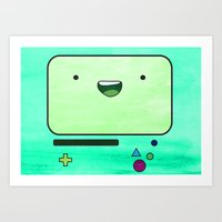bmo Art Prints featuring BMO by Some_Designs