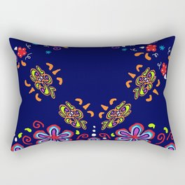 Dusky Florets Rectangular Pillow
