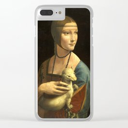 Leonardo da Vinci Lady with an Ermine Clear iPhone Case