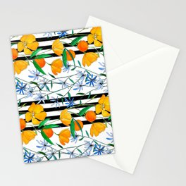 August Stripe Stationery Cards